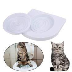 ADEPTNA Asiento de Inodoro para Gato, Kit de Bandeja de Arena para Mascotas, Gatitos