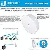 Ubiquiti PowerBeam 5AC ISO Gen2 - 5 GHz airMAX ac Bridge with RF Isolated Reflector (PBE-5AC-ISO-Gen2-US)