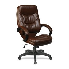 UPC 035255632829, Lorell High-Back Executive Chair, 26-1/2 by 28-1/2 by 46-1/2-Inch, Brown/Black