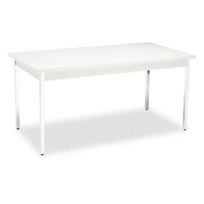 HON UTM3060QQCHR 60 by 30 by 29-Inch Non-Folding Rectangular Utility Table, Light Gray by HON