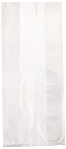 Amscan Cello Party Favour Plastic Bag Saver Pack Supplies (300 Piece), Clear, 12""