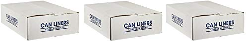 Spectrum CAMZ243308N CP243308N HDPE Institutional Trash Can Liner, 12-16 Gallon Capacity, 33'' Length x 24'' Width x 8 Micron Thick, Natural (Case of 1000) (3-(Pack))