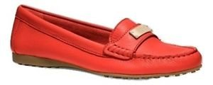 Coach Women's Fredrica Pebbled Leather Loafer,True Red,7 M US