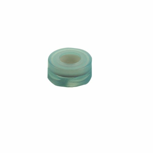 National Scientific Green Polypropylene, PTFE/Silicone/PTFE Target DP RoboCap with Septum (Case of 1000) by National Scientific