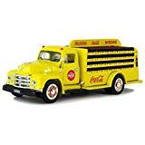 (1955 Diamond T Bottle Delivery Truck Coca-Cola Yellow 1/50 Diecast Model Car by Motorcity Classics)