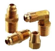 Parker Hannifin 48F-6-4-pk10 Male Connector 3//8 Flare Tube x 1//4 Male Thread 45 Degree Flare Fitting Pack of 10 Brass