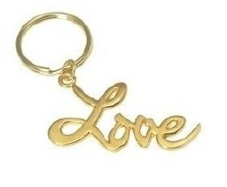Love As In In The City Keychain Key Chain Gold Friendship Eternity Gift New