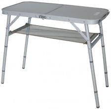 Stabielo – plegable – plegable – Aluminum camping mesa con repisa ...