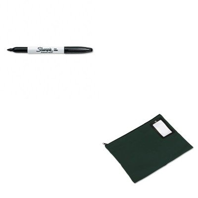 KITPMC04649SAN30001 - Value Kit - Pm Company Flat Dark Green Transit Sack (PMC04649) and Sharpie Permanent Marker (SAN30001)