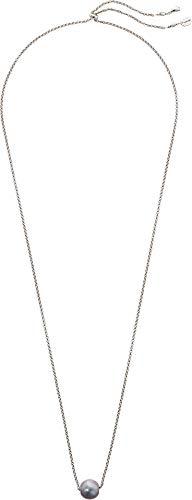 Chan Luu Women's Adjustable Solo Pearl Necklace Grey Pearl One ()
