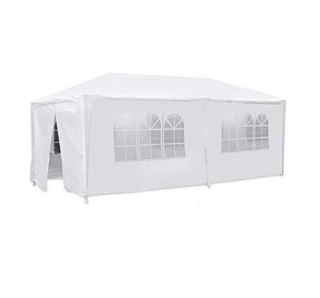 JOO LIFE 10' x 20' White Outdoor Gazebo Canopy Party Wedding