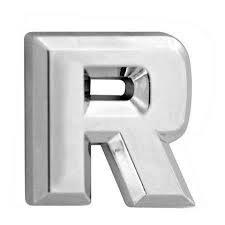 chrome vehicle letters - 6