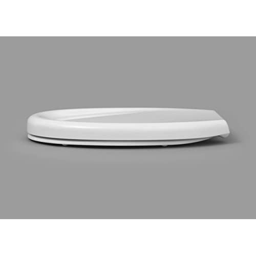 "EVIDECO 528815DIPPERW Round Toilet Seat Slow-Close Dipper White 16.12""L x 14.4""W chic"