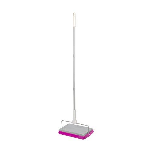 Casabella Basics Carpet Sweeper, 3 Piece Pole, Silver and Ma