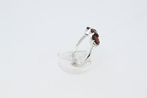 Bague en Grenat M 19 - Bijoux en argent rhodié et Grenat - Toutes tailles et diverses pierres - ARTIPOL