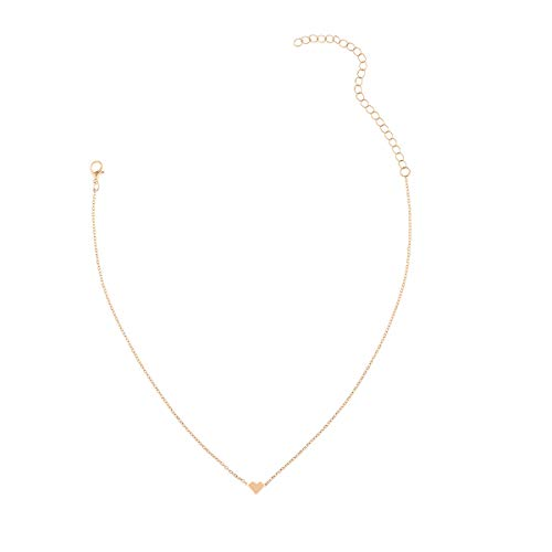 CLÉMENT & HILTON Clavicle Chain Choker Necklace Tiny Heart Pendant Dainty Jewelry