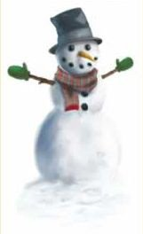 [Snowman Peel 'N Place Party Accessory (1 count) (1/Sh)] (Snowman Costume Easy)