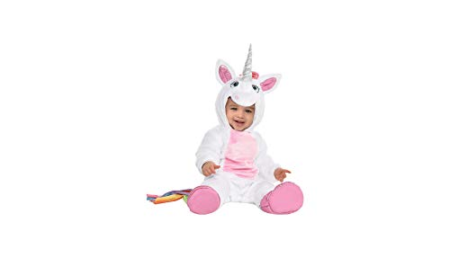 Unicorn Halloween Costume for Infants, 6-12 Months, with Attached Hood, by Amscan -