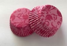 Damask Cupcake - 50 count Pink Damask Cupcake Liners Liner for Standard Size Cupcakes