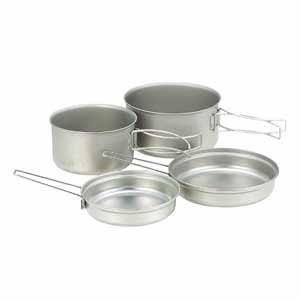 Snow Peak Multi Compact 4 Piece Titanium Cook Set [並行輸入品] B07R4TXPT7