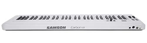 Samson Carbon 61 Key USB MIDI DJ Keyboard Controller+Dual Shelf Studio Stand