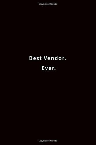 Download Best Vendor. Ever.: Lined notebook pdf