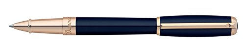 stdupont-elysee-blue-lacquer-pink-gold-rollerball-pen