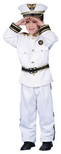 Dress Up America Halloween Cosplay Deluxe Navy Admiral Costume Set X-Large (Deluxe Kid's Navy Admiral Costumes)