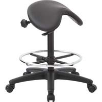Backless Stool with Saddle Seat