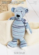 Leaflet 1457 Knitting Pattern by Sirdar. Bear in Sirdar Snuggly Baby Crofter DK & Snuggly (Sirdar Knit Pattern)