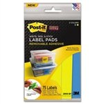 MMM2900BY - Post-it Removable Label Pads