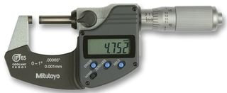 Mitutoyo 293-344 Coolant Proof LCD Micrometer, Ratchet Thimble, 0-1