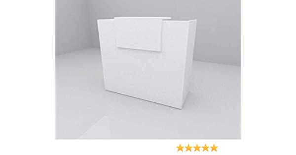 MOSTRADOR LAMINADO DE 25mm DE GROSOR DE 120X105X50CM CON COSTADO. FABRICADO EN ESPAÑA. ENVIO A PENÍNSULA (BLANCO-BLANCO) ENTREGA DE 3 A 5 DIAS HABILES.: Amazon.es: Oficina y papelería