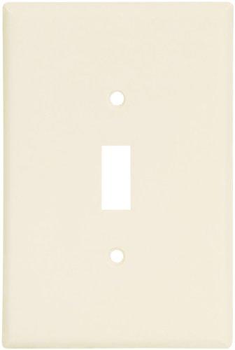 EATON Wiring 2144LA-SP-L Thermoset 1-Gang Oversize Toggle Wall Plate, Light Almond (Oversize Switchplates Light)