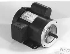 Marathon F135 56C Frame 56B17F5584 TEFC General Purpose Motor, 1 Phase, C-Face, Ball Bearing, 1-1/2 hp, 1800 rpm, 1 Speed, 115/208-230 VAC