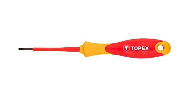 Topex 39D473 Destornillador plano aislado (5,5 x 125 mm ...