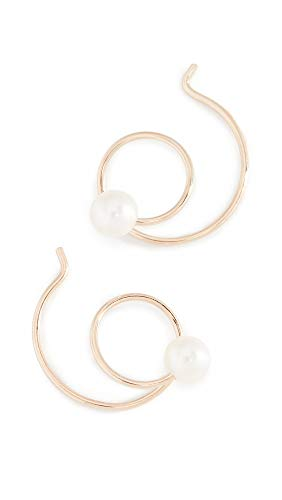 - Zoe Chicco Women's 14k Gold Freshwater Cultured Pearl Swirl Earrings, Gold/Pearl, One Size