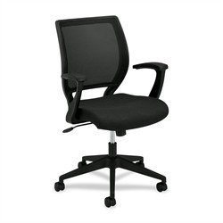 Series Mid Back Fabric Chair (HON VL521VA10 VL521 Series Mid-Back Work Chair, Mesh Back, Fabric Seat, Black)