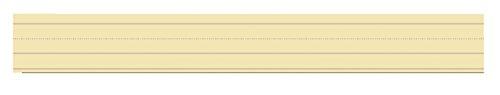 School Smart Ruled Sentence Strips - 3 inch by 24 inch - Pack of 100 - Manila (Manila 100 Strips)