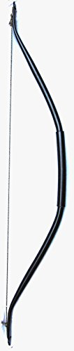 """PVC Recurve Bow FLAT BLACK – Recreational Model, 35lb @ 21"""" Draw (Approx. 36"""" Height Strung)"""