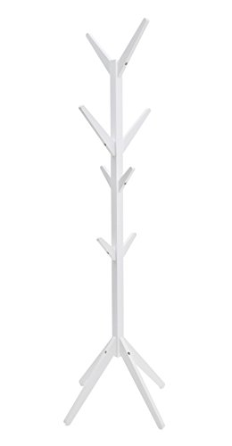 4 Tiers Wooden with White Paint Finish Ladder Leaning Bookshelf Sennen Range by Elegant Brands