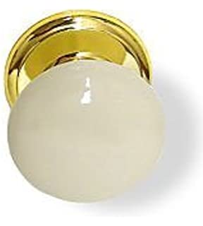 Gainsborough Genuine Porcelain Door Knob Set (Locking Bed & Bath ...