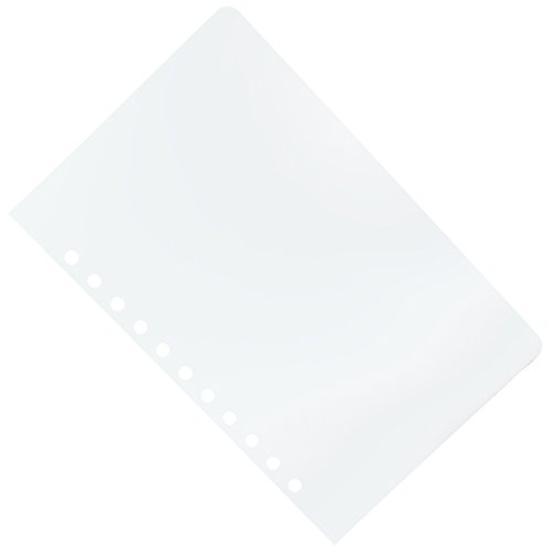 11 Hole Aerobind QRH Cover - 7.27 Inch Wide Clear Flexible Pilot Checklist Cover - 50 Per Pack by Aerobind