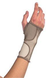 Mueller Life Care Contour Wrist Support Sleeve, Taupe - Medium 7.5-8.5''