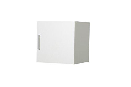 WILMES 40144-75 0 75 Aufsatz Ronny 1 Tür, 40 cm Dekor Melamin, 40 x 40 x 39 cm, weiß