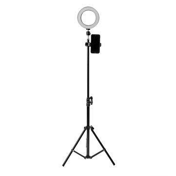 16cm LED Video Ring 5500K Dimmable with 160cm Adjustable Stand - Studio Equipments Lightings ()
