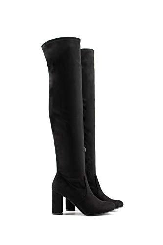 Tacón Negro Modelisa Caña Bota Alta Mujer ZxOPzq6