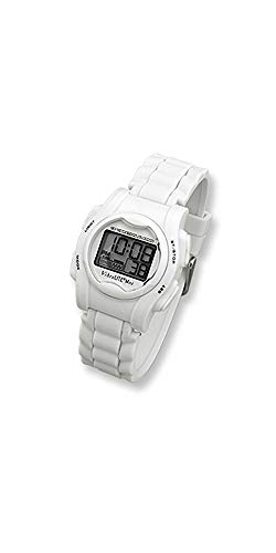 Watch Multi Vibration Alarm - VibraLITE Mini Vibration Watch-White Silicon Band with Steel Buckle