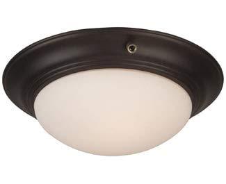 Craftmade Light Bowl Kits - Craftmade LKE53CFL-OB 2 Light Elegance Bowl Fan Light Kit