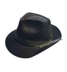 Flock Gangster Hat (Hat Flock Gangster for Fancy Dress Party Accessory by Just For Fun)